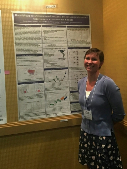 Cecina Babich Morrow presented a poster analyzing new methods for quantifying n-dimensional hypervolumes